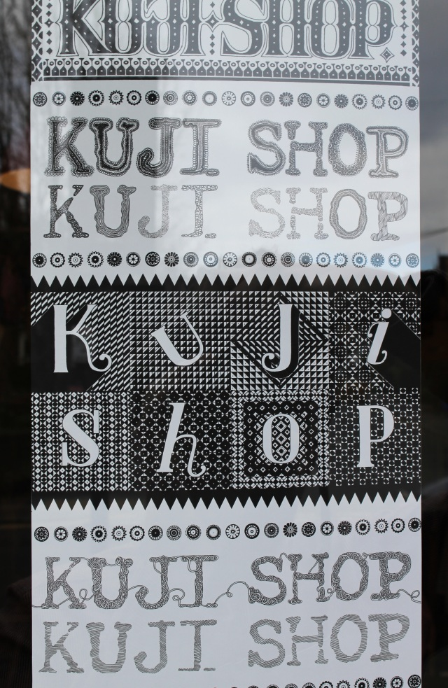 Kuji Shop logo drawn