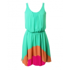jade chiffon hem dress